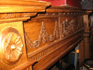 BEAUTIFUL Circa 1880 carved Victorian  Fireplace mantel Cambridge Kitchener Area image 1