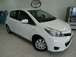 2011 Toyota Yaris NCP130R YR White 5 Speed Manual Hatchback Westcourt Cairns City Preview
