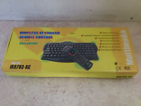 wireless infrared pc keyboard and remote control - brand new, boxed