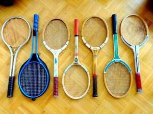 TENNIS RACKETS FOR SALE racquets raquets wood metal excellent