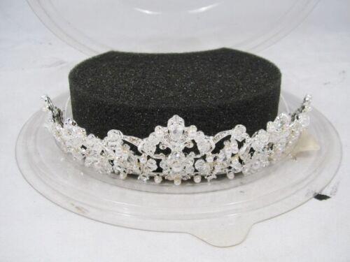 Swarovski High Quality Crystallized w/ Baby Pearls Tiara Crown Pageant Wedding