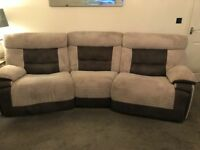 Grey recliner sofa