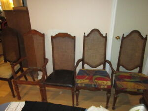 Antique Chairs - solid cane back for DIY project