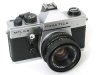 PRACTICA MTL5 B 35mm SLR Film Camera With 50mm Lens & Flash light MADE IN GERMANY