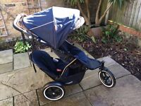 2016 Phil & Teds Sport 2 buggy plus cocoon, double raincover, maxi cosi adapters and doubles kit