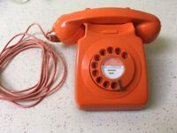 Retro dial telephone (modern BT phone point compatible)