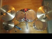 Full Drum Kit (with protectives cases)