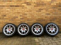 "BBS CH Style 18"" Alloy Wheels & Tyres (5x112, VW Golf, Audi, SEAT, Skoda)"