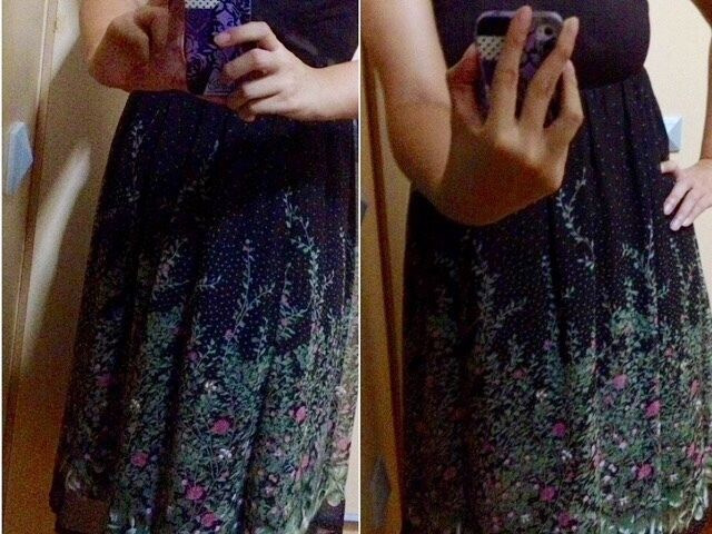 2nd Hand Joop Brown Chiffon Floral Tube Dress