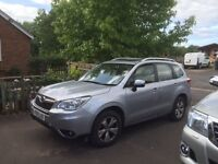 Subaru Forester XC Diesel Automatic, Silver, leather seats, Sat Nav, reversing camra, air con