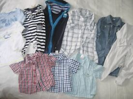 3-6 MONTHS. 11 OUTFITS INC 3 SHIRTS, 3 T-SHIRTS, SLEEPSUITS/OUTFITS, 'LITTLE WHITE CO' ETC. (BAG 20)