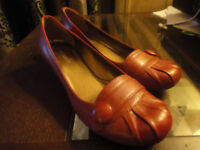 Clarks Red Leather shoes 5