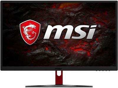 "شاشة ليد جديد MSI Optix G24C Black & Red 24"" FreeSync 144Hz 1ms HDMI Non-Glare Curved Widescre"
