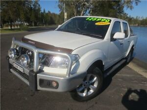2012 Nissan Navara D40 S6 MY12 ST Arctic White 6 Speed Manual Utility Cardiff Lake Macquarie Area Preview