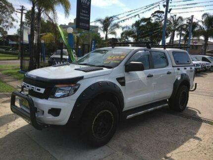 2012 Ford Ranger PX XL White Manual Utility Cabramatta Fairfield Area Preview