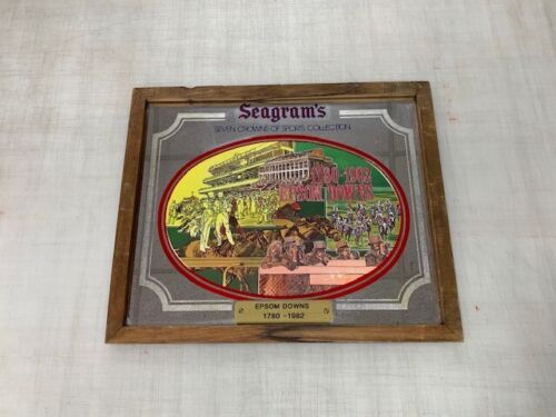 Seagrams Seven Crowns of Sports Collection Vintage Bar Mirror