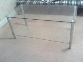 Glass coffee/Tv stand