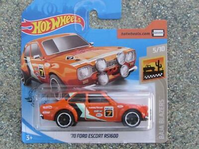 Hot Wheels 2020 #052/250 1970 FORD ESCORT RS1600 rally orange @C