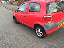 Toyota Yaris Y reg 12 months MOT 2 previous owners