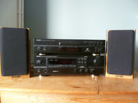 Denon Stereo Receiver, Compact Disc Player and Tannoy Speakers