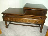 oak priory telephone seat