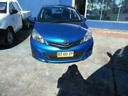 2014 Toyota Yaris NCP130R YR Blue 4 Speed Automatic Hatchback Homebush West Strathfield Area Preview