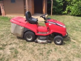 Ride on mower automatic emptying- Honda