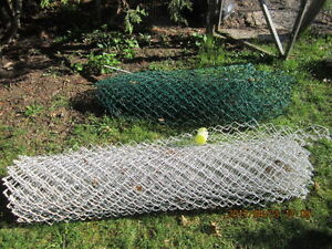 plastic   coated fencing   good  shape  used