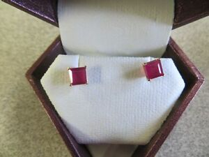 14 kt yellow gold ruby 2.15ct earrings (replacement value $1278