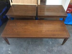 Cherry Coffee Table and End Tables