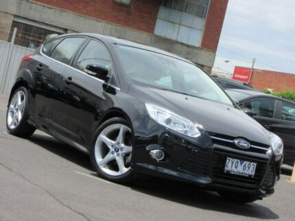 2013 Ford Focus LW MKII Titanium PwrShift Black 6 Speed Sports Automatic Dual Clutch Hatchback Preston Darebin Area Preview