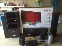 Home Entertainment System Package - 60 inch TV and Speakers