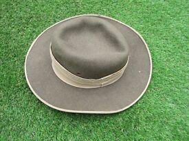 Hat, Australian felt Bush Hat medium size