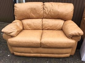 Leather 3 piece suite good condition.