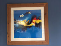 4 LARGE PRINTS IN GLASS AND WOODEN FRAME