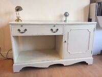 Solid wood shabby chic low sideboard