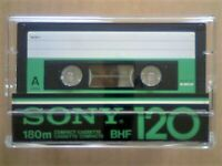 JL VERY RARE 1x SONY BHF 120 PENULTIMATE PREMIUM TYPE 1 CASSETTE TAPES 1978-1981. JOB LOT OR SOLO'S.
