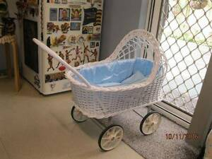 Vintage, Old School, Antique, Collectable Cane/Wicker Dolls Pram Nollamara Stirling Area Preview