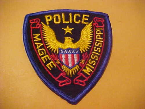 MAGEE MISSISSIPPI  POLICE PATCH SHOULDER SIZE UNUSED