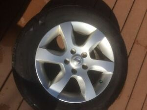 16'' Nissan Altima alloy Rims mount on Bridgestone ecopia ep422