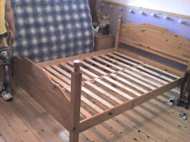 Brown Wooden double Bed