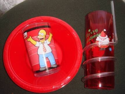 Plastic plate and a cup for a child Campbelltown Campbelltown Area Preview