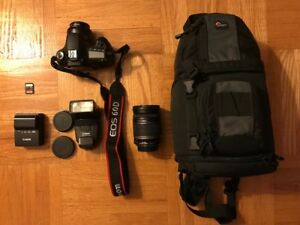 Canon 60D + 2 lenses & accessory kit. Shutter count of 2556!