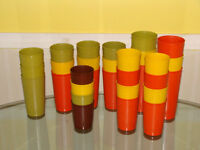 24 mismatched vintage Tupperware cups