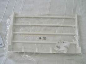 IKEA ENUDDEN WALL SHELF WITH 4 KNOBS, 45cm x 28cm, 4 HANGING RODS, UNUSED
