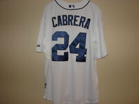 #24 MIGUEL CABRERA DETROIT TIGERS HOME WHITE JERSEY SIZE XL