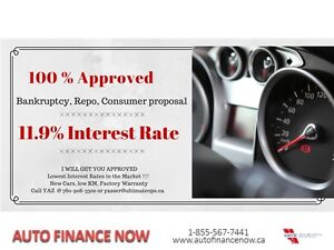 BANCKRUPTCY OR PROPOSAL 11.9% FIXED RATE