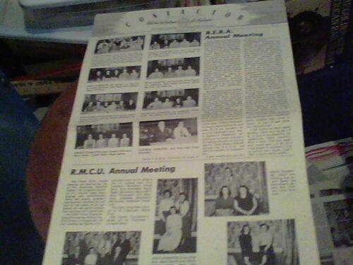 Feb 1953 Contactor Reliance Electric newsletter Ashtabula R.E.B.A & R.M.C.U. pic