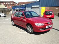 PEUGEOT 306 5 DOOR 1360CC LOTS OF HISTORY LADY OWNER 10 YEARS