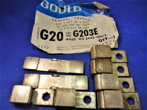 G203E Gould 2 movable, 6 stationary CONTACT PARTS LOT Telemechanique- Used